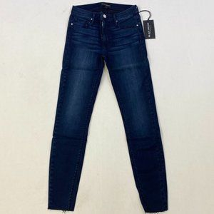 Black Orchid Dark Blue Ripped Ankle Skinny